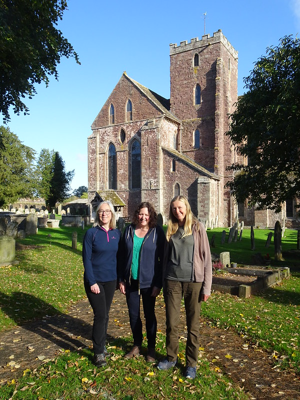 Hazel, Cat and me at Dore Abbey