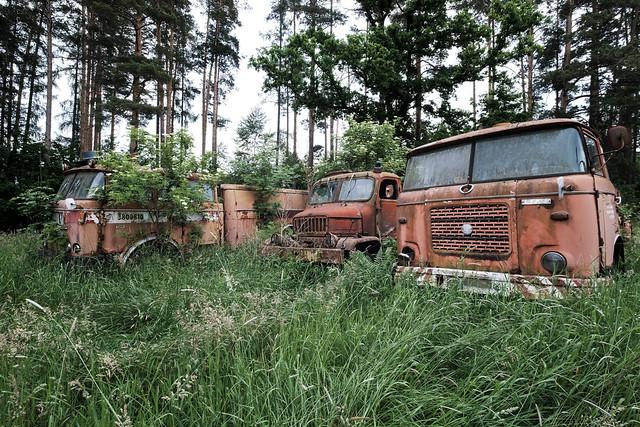 Forgotten fire trucks