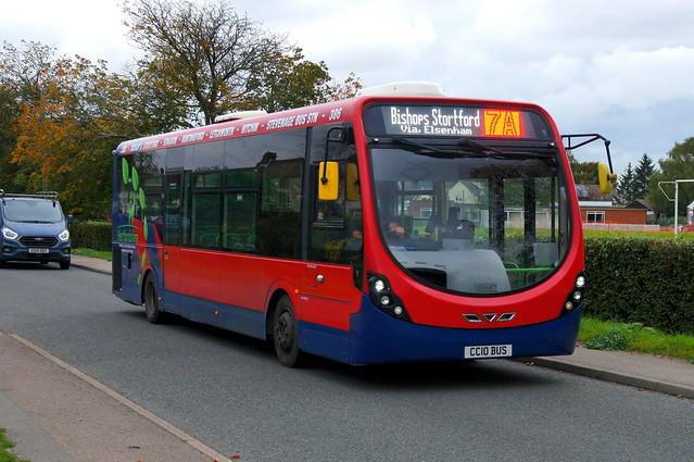 Fighting the Lite: Trustybus (ex Tower Transit WV46111) Wright Streetlite DF 10.8m CC10BUS (formerly SN64CVR) Birchanger Lane Birchanger 12/10/21