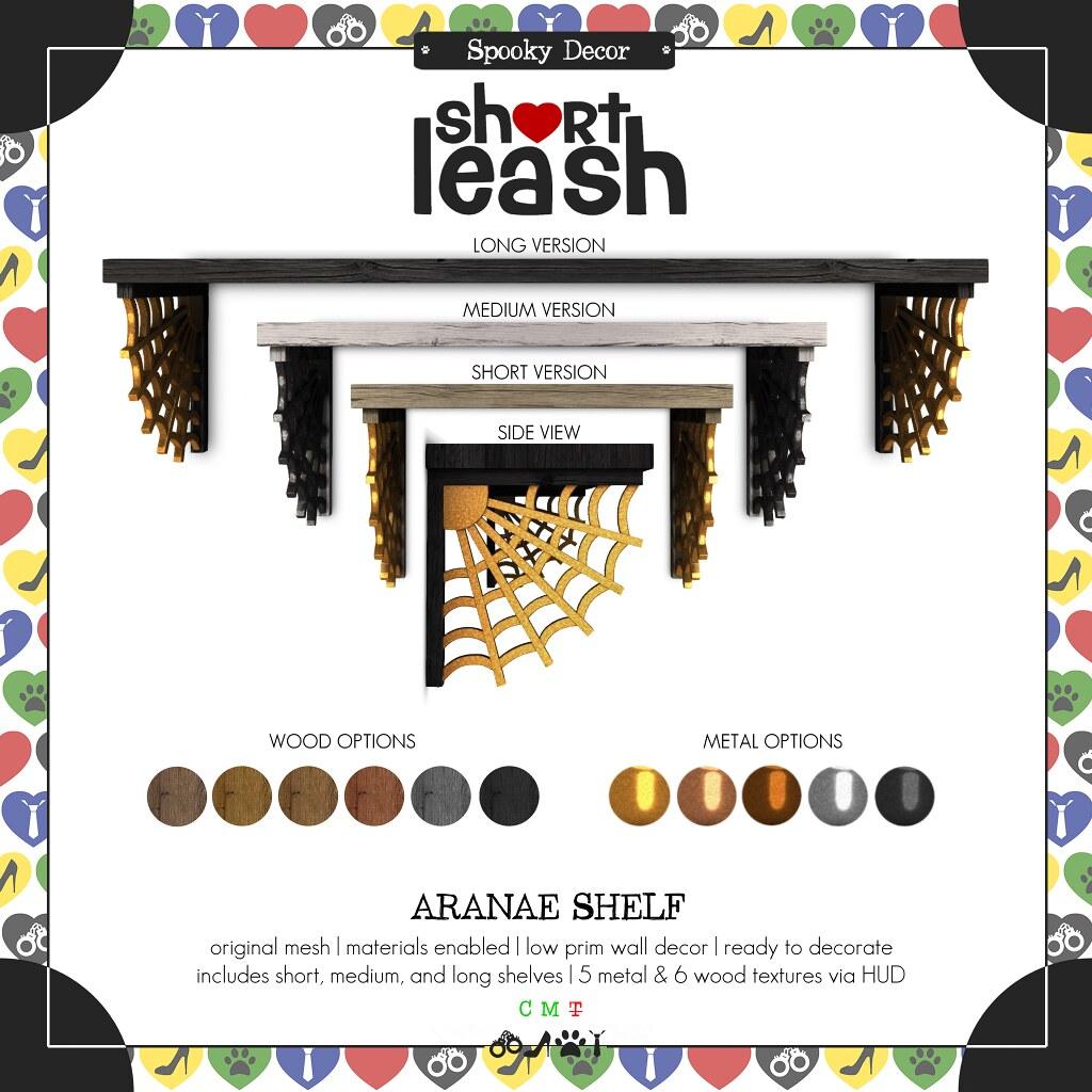 .:Short Leash:. Aranae Shelf