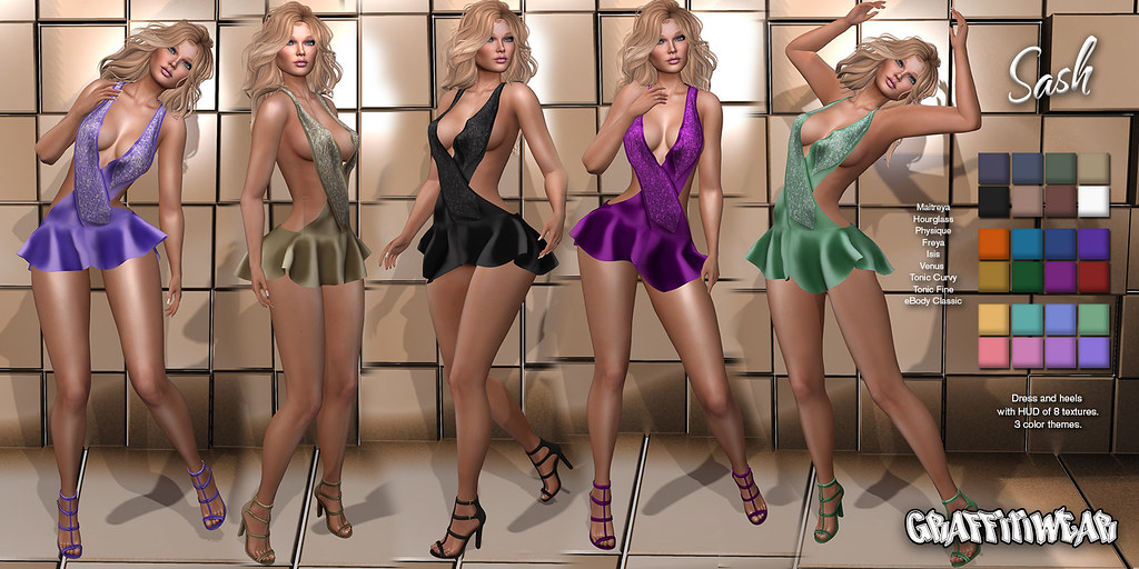 Sash Dress & Heels