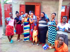 our women receiving sanitary pads