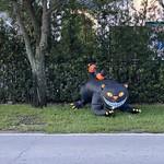 Giant Black Cat Halloween Decoration