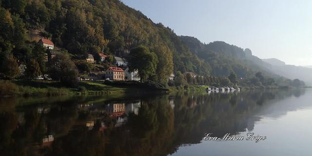 Bad Schandau, mit dem Ausflugsdampfer nach Schmilka