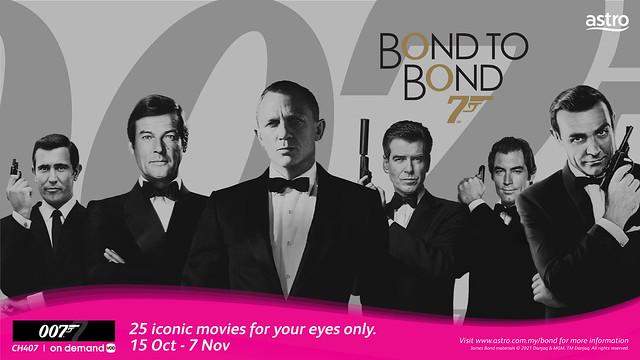 Astro Menayangkan Koleksi 25 Filem Ikonik James Bond '007'