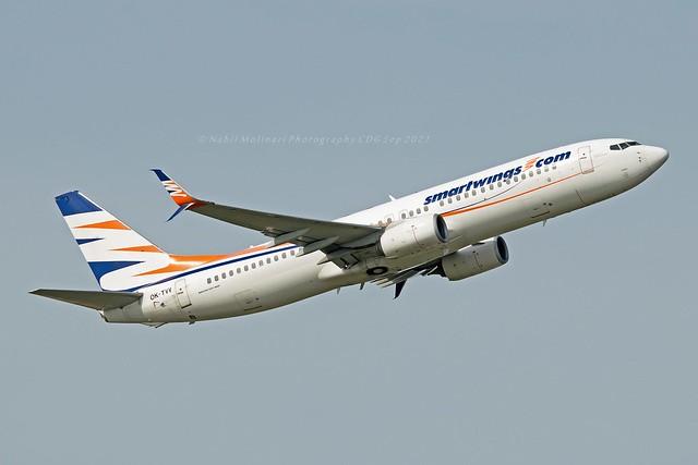 Smartwings OK-TVV Boeing 737-86N Split Scimitar Winglets cn/38027-4030 @ LFPG / CDG 25-09-2021