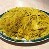 Singapore style noodles are often my go-to at a Chinese restaurant. I like the yellow curry flavor & can select which meats to include. #chinesefood #singaporenoodles #americanchinesefood