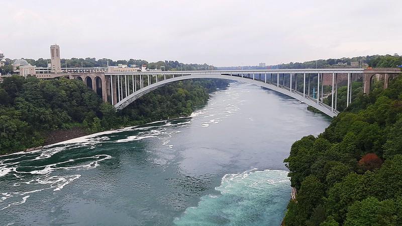 Rainbow International Bridge from Niagara Falls observation tower (2)