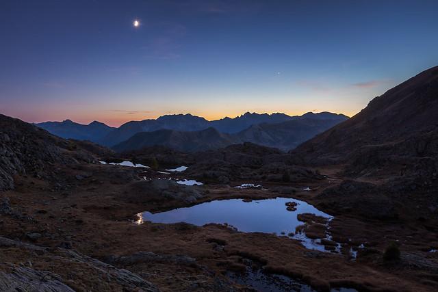 Moon & Venus at Blue Hour [EXPLORED]