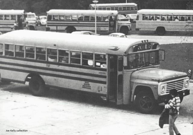 Dix Hills, NY Half Hallow Hills Central School, 1982 - buses