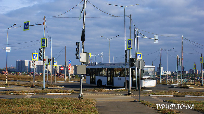 Перекрёсток в Ростове светофоры