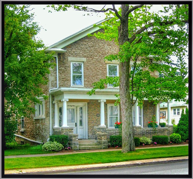 Lockport New York - United States - Isaac Dole House - Cana Erie = Porch