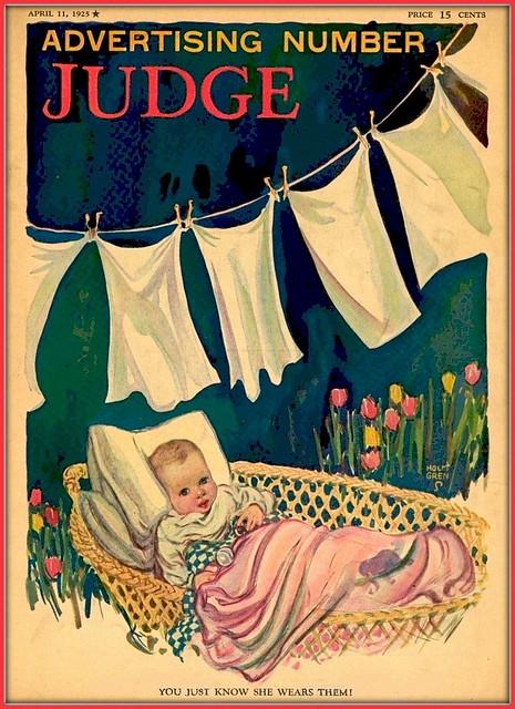 1925 April 11,  Cover - Judge - You Just Know She Wears Them - art by Holm Gren