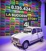 • 60 ans de la 4L • • 1961-1992 • 8.135.424 ex. • L'atelier Renault • Champs Elysées Paris #renault4l #voiture #car #parischampselysees #paris @atelierrenault #atelierrenault #backintime #renault #exposition