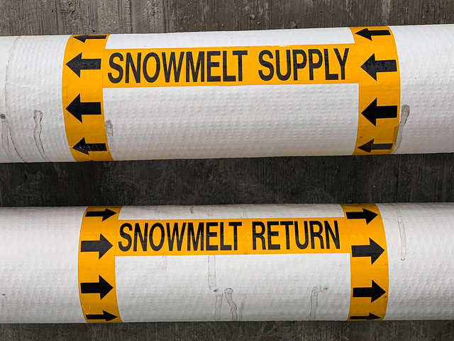 Snow Melt Supply and Return Pipelines