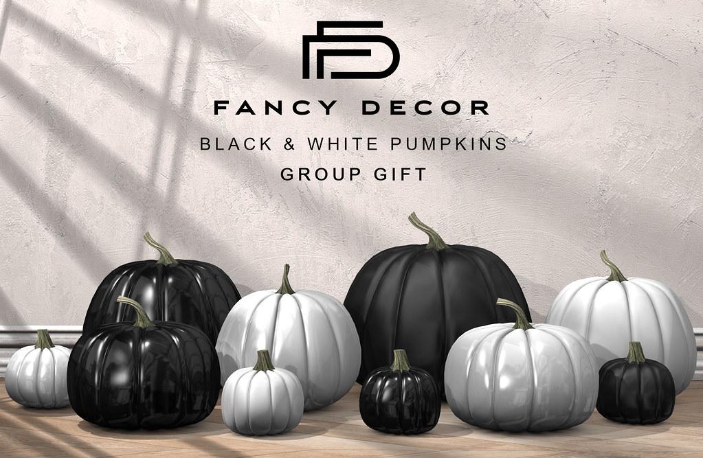 Black & White Pumpkins Group Gift