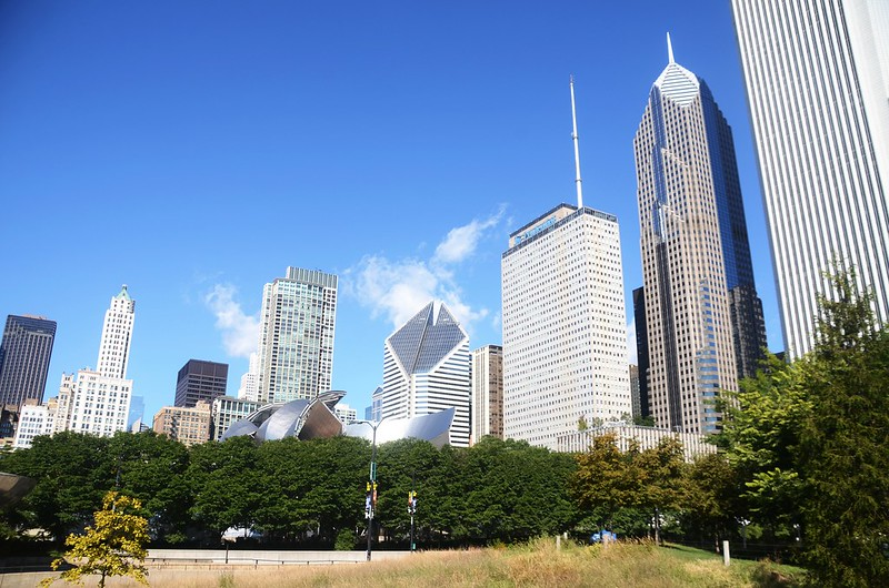 Chicago Skyline from Chicago Lakefront Trail (1)