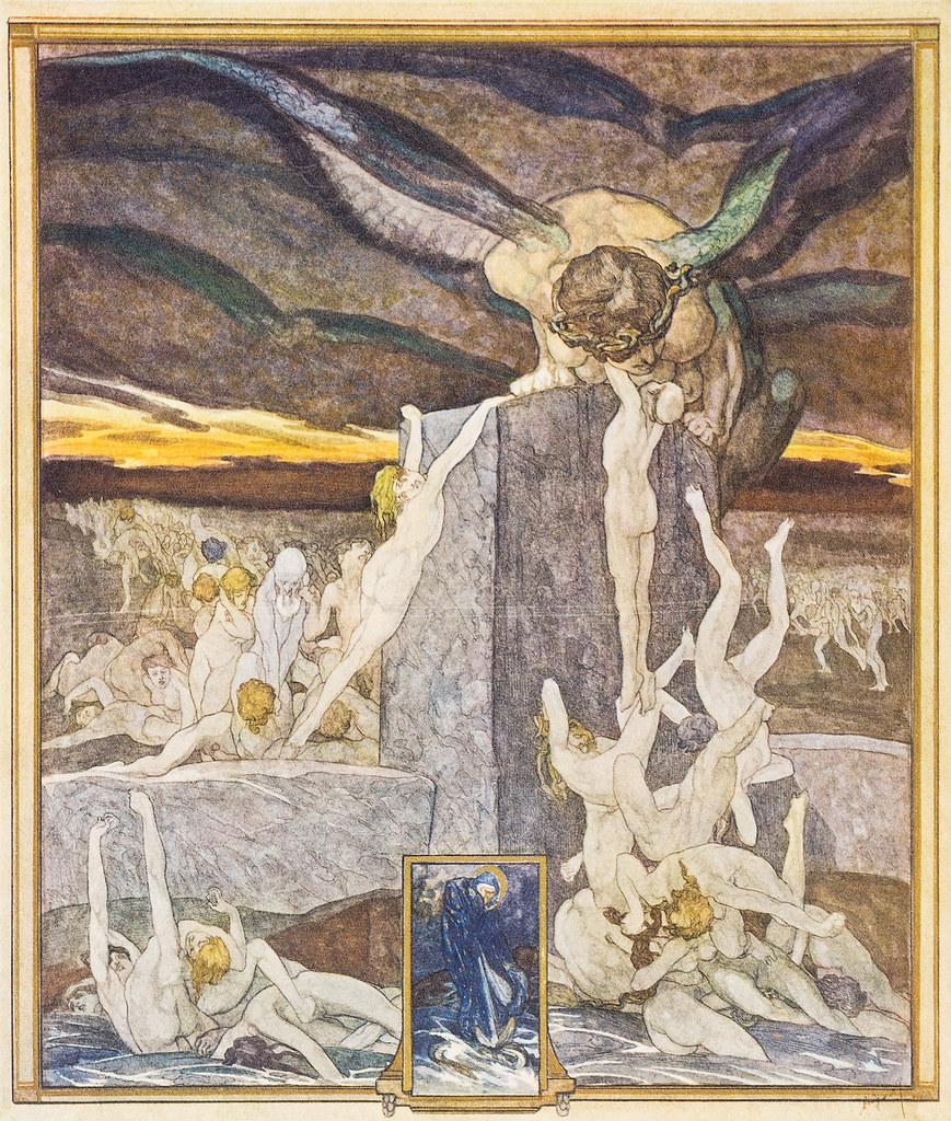 Franz von Bayros - Illustration for Dante Alighieri's 'The Divine Comedy' 3