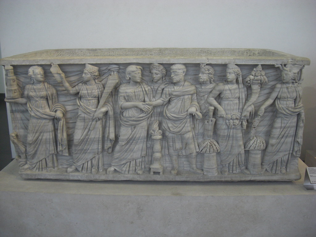 Sarcophagus with Marriage Scene
