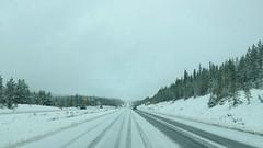 Snowy Road between Merritt and Kamloops