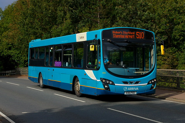 Brandless: Arriva Harlow Volvo B7RLE/Wright Eclipse 2 KX11PVD (3882) Church Road Stansted Mountfitchet 13/10/21