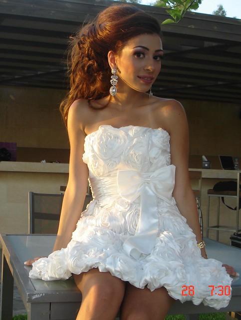 Uncanny Beauty in a Light Dress
