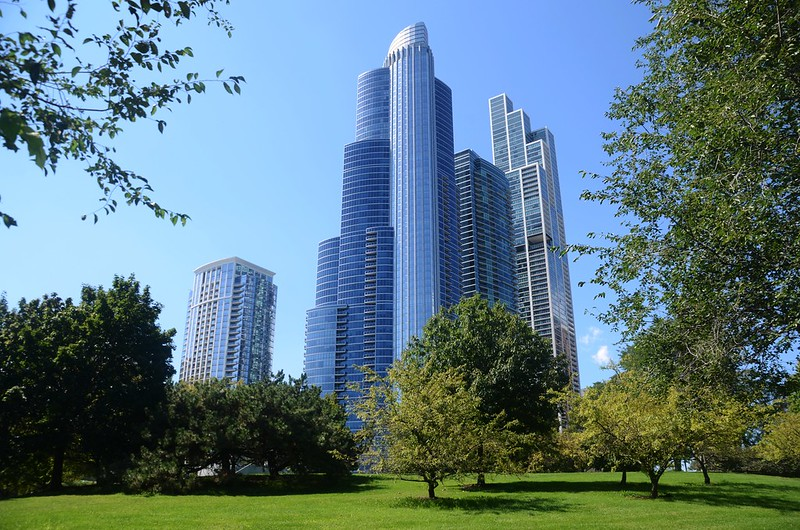Chicago Skyline from Chicago Lakefront Trail (8)