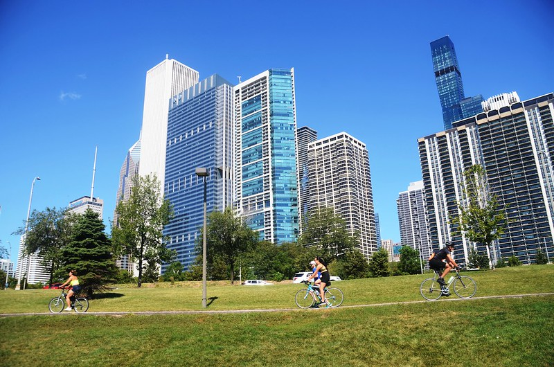 Chicago Skyline from Chicago Lakefront Trail (7)