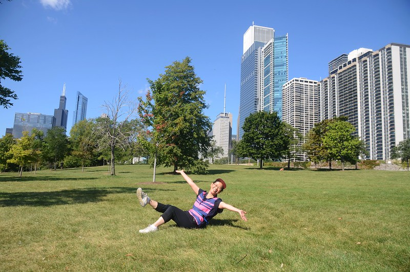 Chicago Skyline from Chicago Lakefront Trail (4)