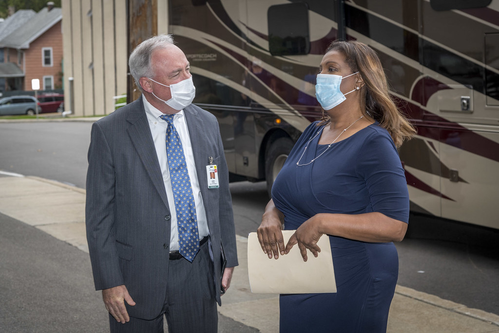 Attorney General Letitia James visits UHS