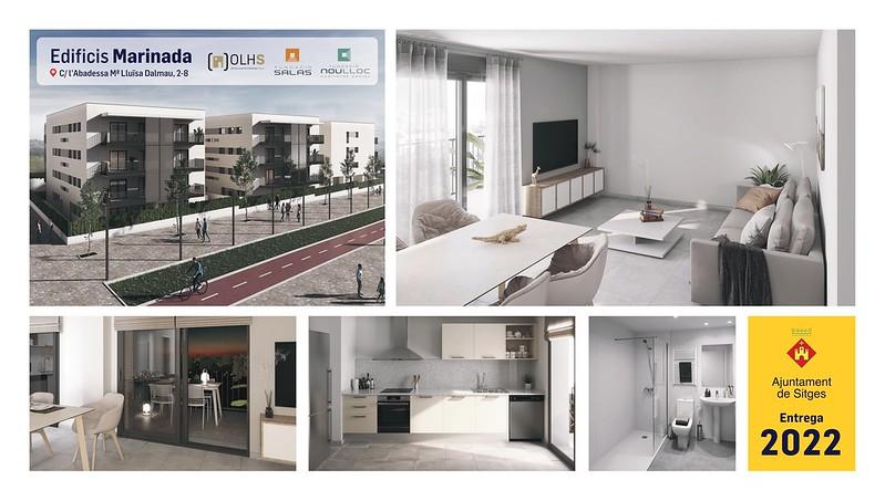 Como son los pisos de la primera promoción pública de vivienda en Sitges