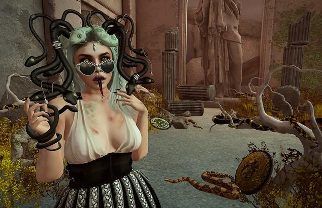 Medusa's Pet Snakes