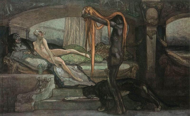 Franz von Bayros - Rivalin, 1921