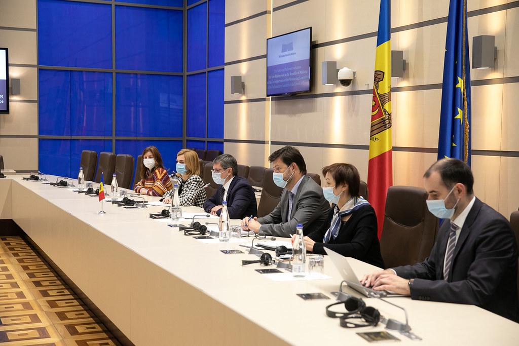 13.10.2021  Întrevederea Președintelui Parlamentului Igor Grosu cu membrii delegației Coraportorilor Comisiei de Monitorizare a Adunării Parlamentare a Consiliului Europei (APCE)
