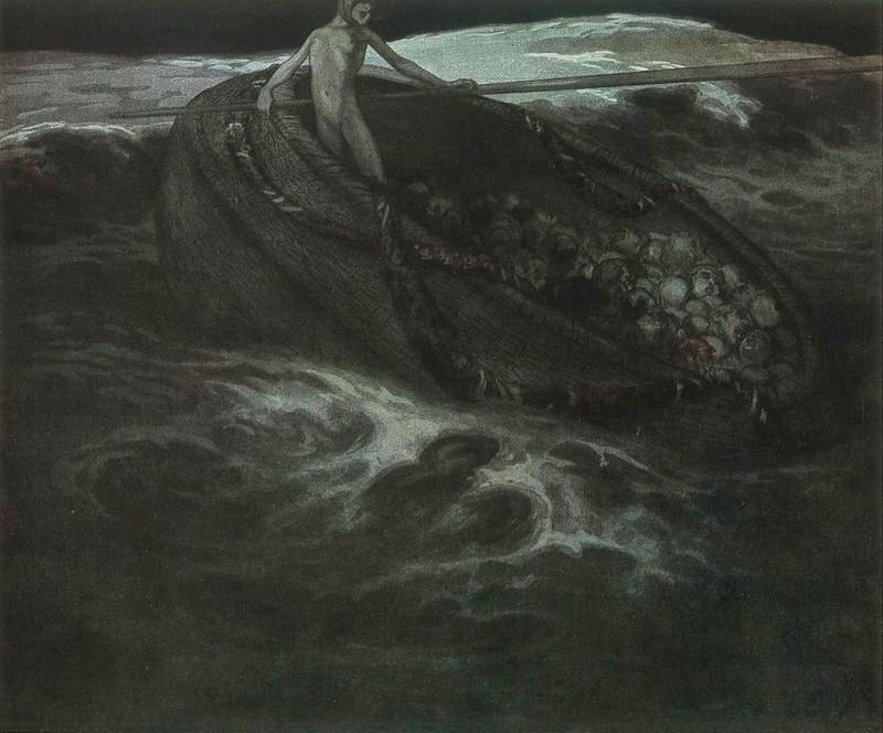 Franz von Bayros - Tribute to Salome, 1921