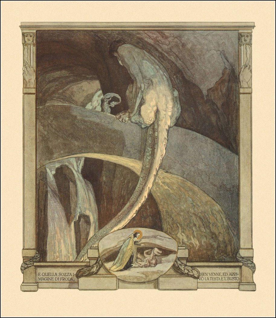 Franz von Bayros - Illustration for Dante Alighieri's 'The Divine Comedy' 1