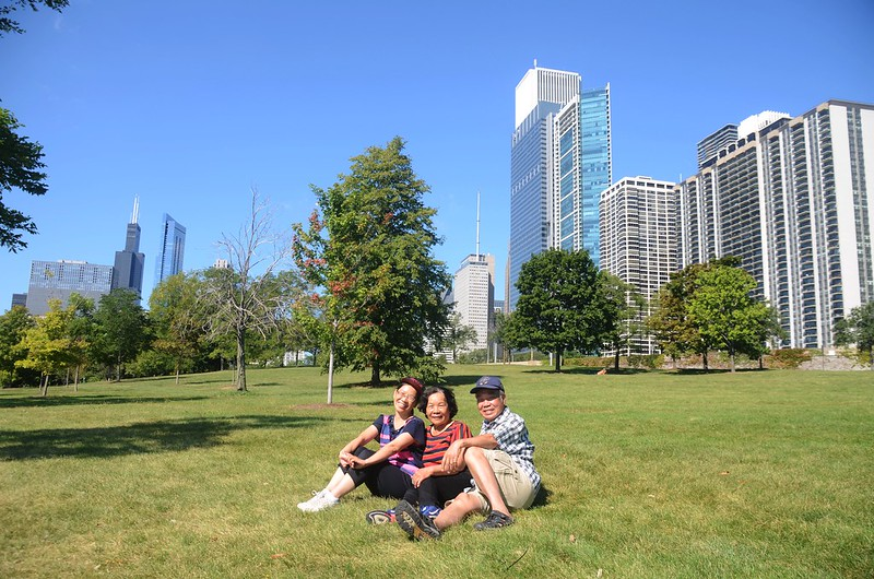 Chicago Skyline from Chicago Lakefront Trail (5)