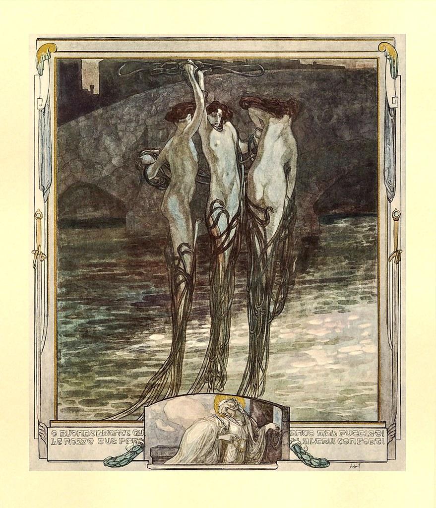 Franz von Bayros - Illustration for Dante Alighieri's 'The Divine Comedy' 2