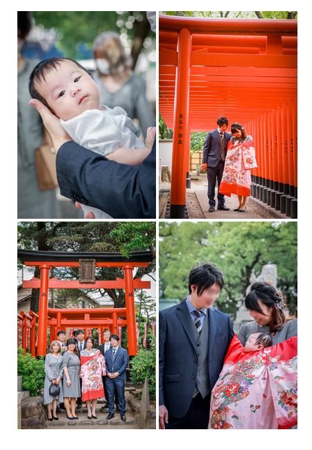 川原神社へお宮参り 家族の集合写真 2021年秋(10月)