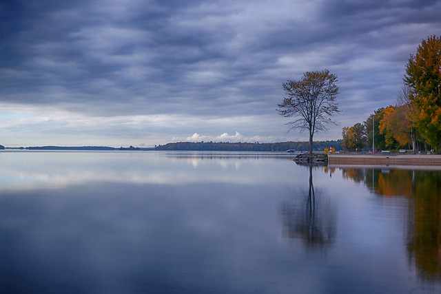 A Calm Autumn Day by the Lake