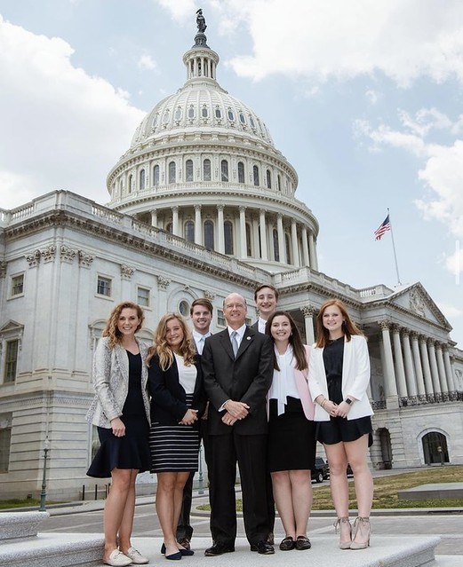 Coleman Turnipseed with Robert Aderholt and fellow interns.