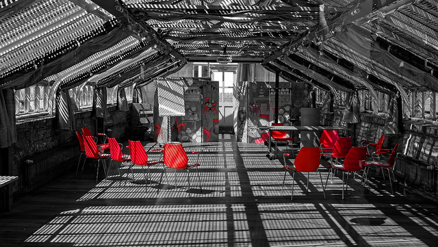 Red Chairs and Shadows