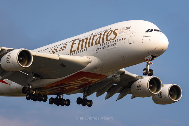 Emirates Airbus A380 A6-EUD