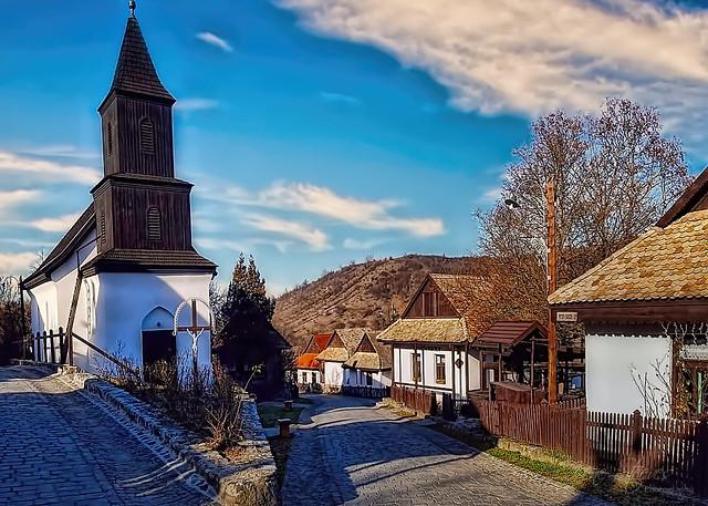Village Scene in Holloko, Hungary