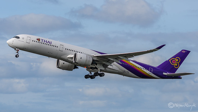 Thai Airways International, Airbus A350-941, HS-THN, 201, Khiri Rat Nikhorn, October 13, 2021-2