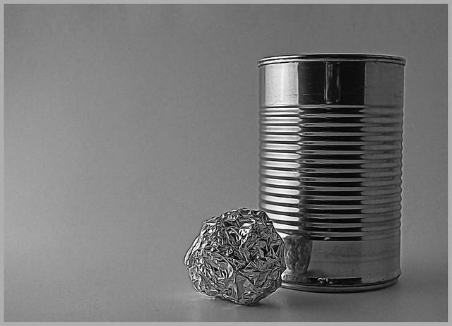 Still Life With Tin Can & Aluminum Foil
