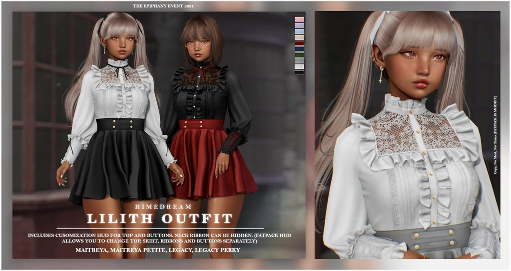 {HIME*DREAM} Lilith Outfit @TheEpiphany (GIVEAWAY #2)