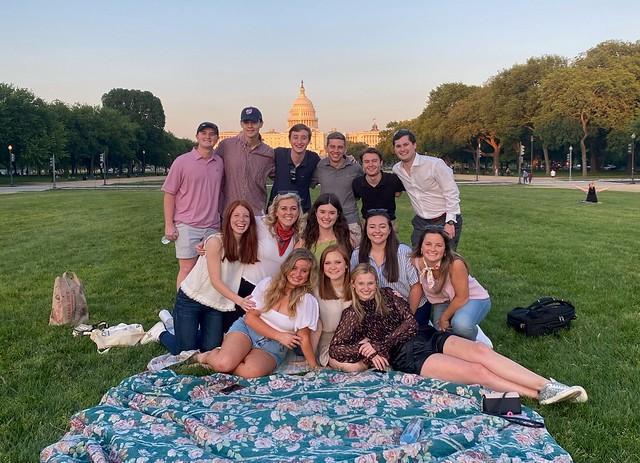 Coleman Turnipseed with fellow interns in Washington, D.C.