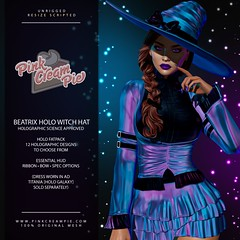 Beatrix Holo Witch Hat @ Fly Buy Fridays 10/15