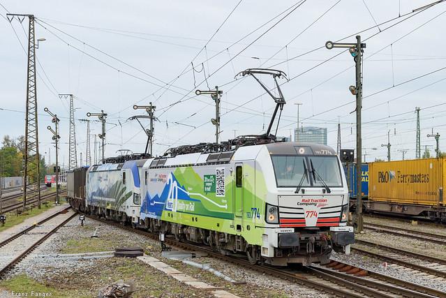 Lokomotion 193 774 und 773, München-Ost Rbf, 14.10.2021